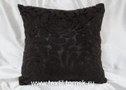 Думка Роза Вулкан,  декоративная подушка меховая ( искусственный мех )